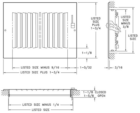 A682 White 682 a682 steel aluminum 2 way register ms der 1 2