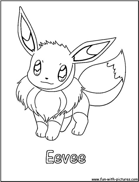 pokemon quot eeve quot coloring pages kids