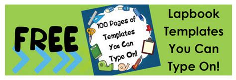 lapbook templates you can type on subscriber freebie 100 pages of free lapbook templates