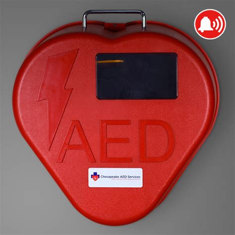 Heart Station AED Cabinet, Red Heart Shape   Chesapeake