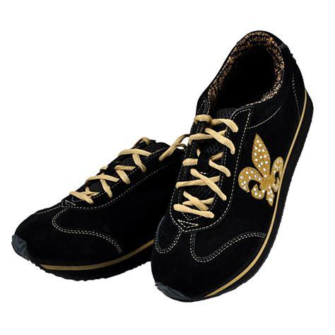 fleur de lis black and gold tennis shoes shoes