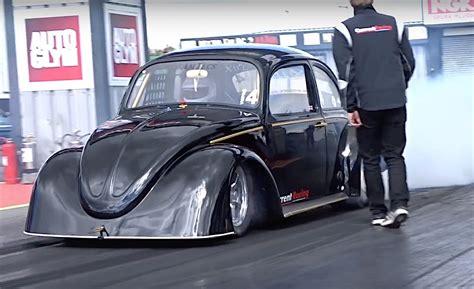 Volkswagen Drag vw bug breaks 1 4 mile electric door car drag racing record