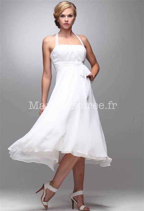 Robe Blanche Simple Pour Mariage - la mode des robes de robe blanche courte pour