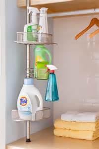 shower caddy in laundry for supplies laundry room ideas