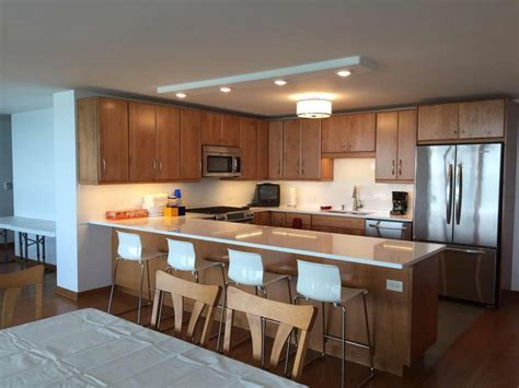 quartz countertops with oak cabinets wl cm works granite countertops chicago