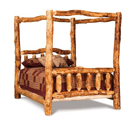 log canopy bed amish rustic log cabin canopy bed
