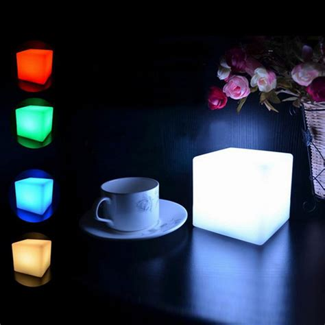 home decor led lights romantic led colorful mood cube glow night l light for