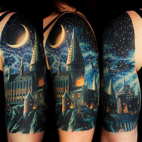 hogwarts castle tattoo hogwarts school best ideas designs