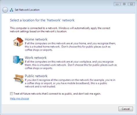 change network location in windows 7 171 windows 7 home