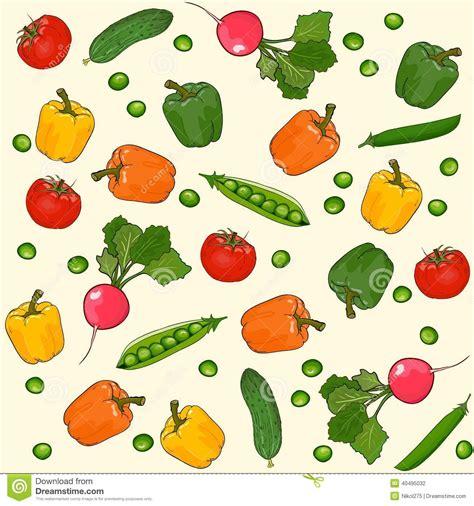 vegetables pattern wallpaper vegetables seamless vector pattern stock vector image