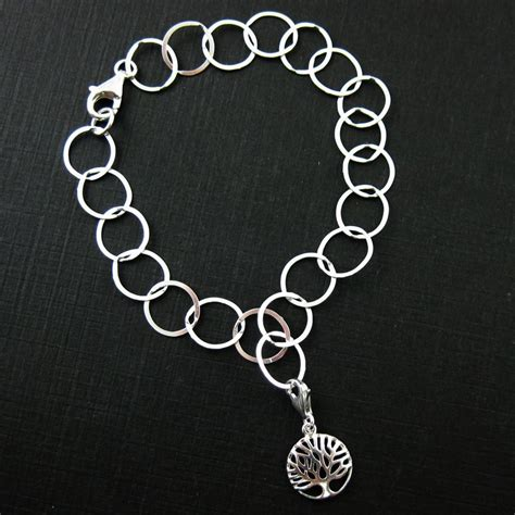 sterling silver tree of charm charm with clasp