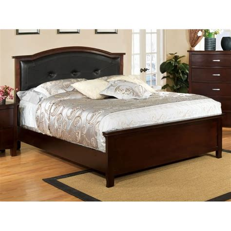 california king bed furniture furniture of america pruden california king panel bed in