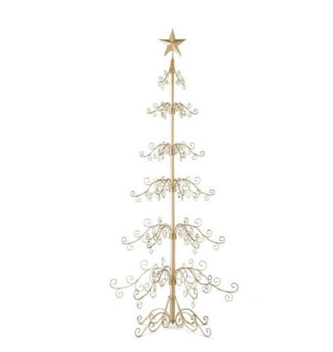 metal christmas tree ornament holders metal display ornament tree decor gold or black 2 sizes