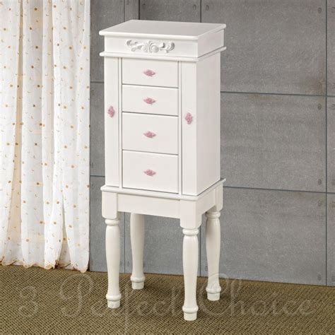 kids jewelry armoire for kids young girls lovely matte white jewelry armoire w