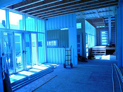 turning a shipping container into how to convert five shipping containers into a cozy modern