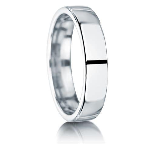 mens 5mm modern court platinum wedding ring jewellery