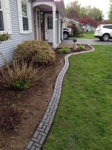Landscape Borders Rochester The Process Cadre Curbing Landscape Edging Concrete