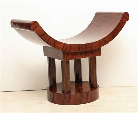 curved wooden bench french art deco wood bench with curved seat circa 1930s