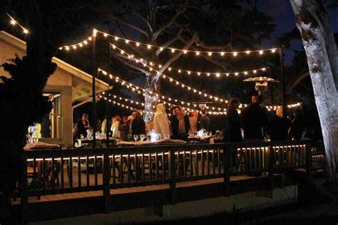 outdoor string lights lending a festive look decor