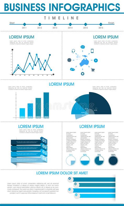 Stylish Business Infographic Template Stock Illustration Illustration Of Banner Data 52823228 Interactive Infographics Templates