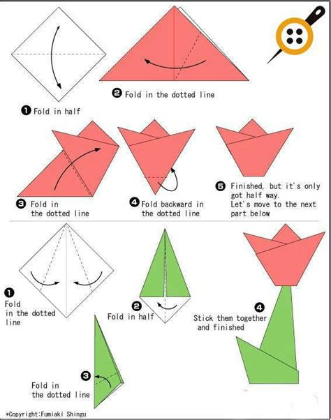 cara buat origami bunga iris kağıttan lale nasıl yapılır elişi kağıdından lale yapımı
