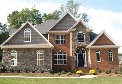 rock brick combination exterior home home improvement accents for red brick homes mixed media using brick and