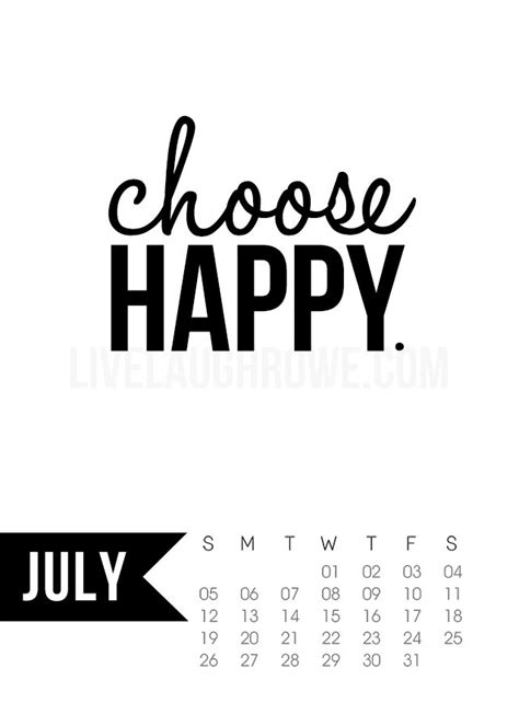 free printable happy quotes july 2015 calendar free printable live laugh rowe