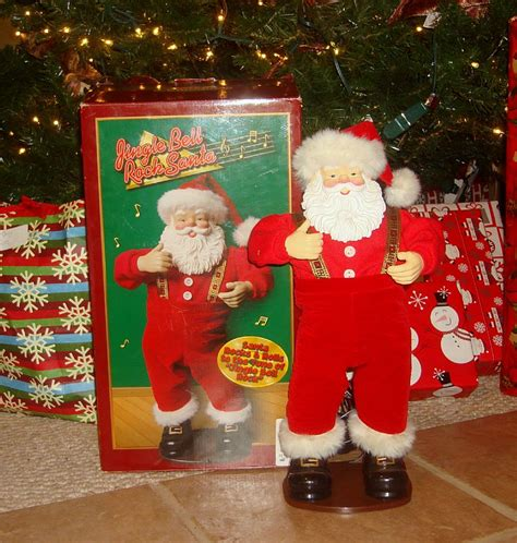 jingle bell rock musical dancing santa claus retired