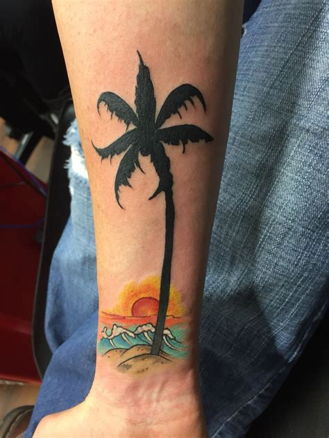 tropical beach tattoo designs tropical palm tree