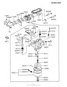 kawasaki fb460v as31 4 stroke engine fb460v parts diagram for carburetor