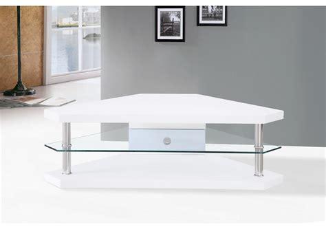 meuble tv d angle blanc laqu 195 169