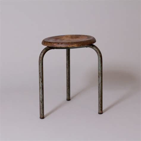 Tabouret Capitonné by Tabouret Tripode Jean Prouv 233 1938 Produced By