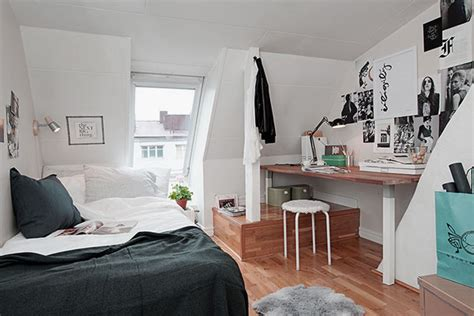 teenage room scandinavian style converting attic to teen bedroom