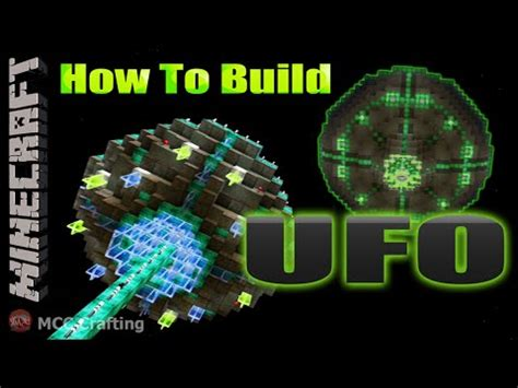 minecraft how to build an ufo spaceship flying