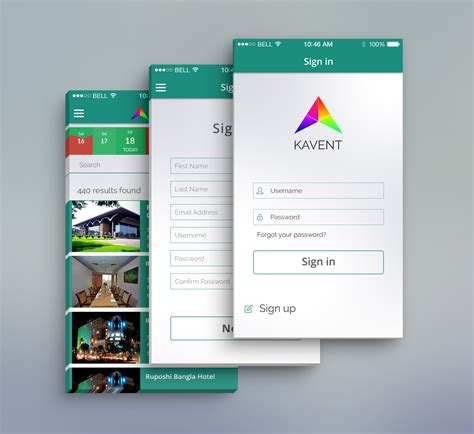 event mobile app psd design free download on behance