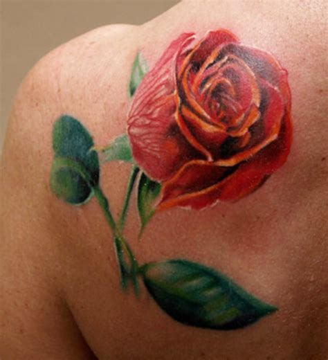 3d rose tattoos images designs