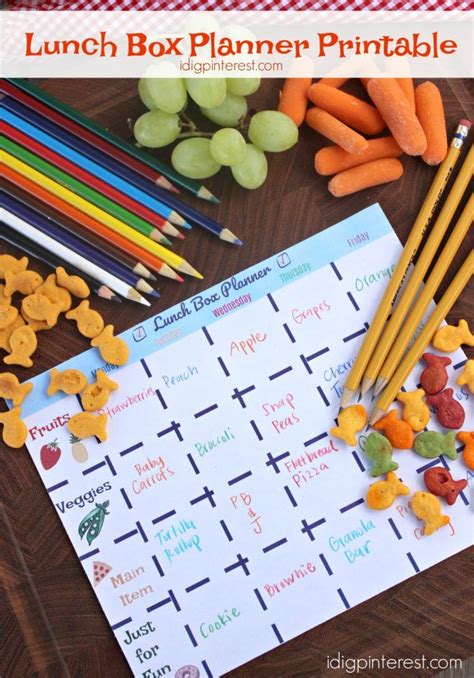 free printable easy 5 day lunchbox planner lunch box 47 best meal plan images on pinterest households