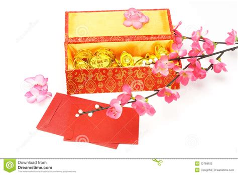 new year box new year gift box stock photo image of flower