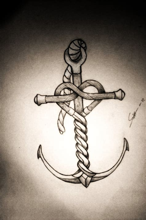 heart and anchor tattoo designs 25 anchor rope tattoos designs