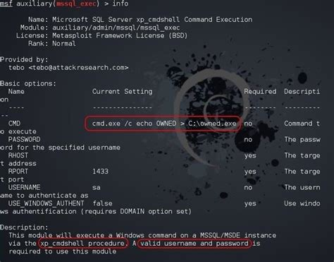 xp configure command without mssql how to hack databases running cmd commands from an online