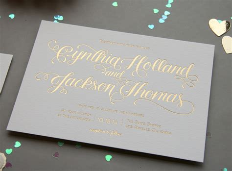 wedding invitations gold foil gold foil wedding invitations