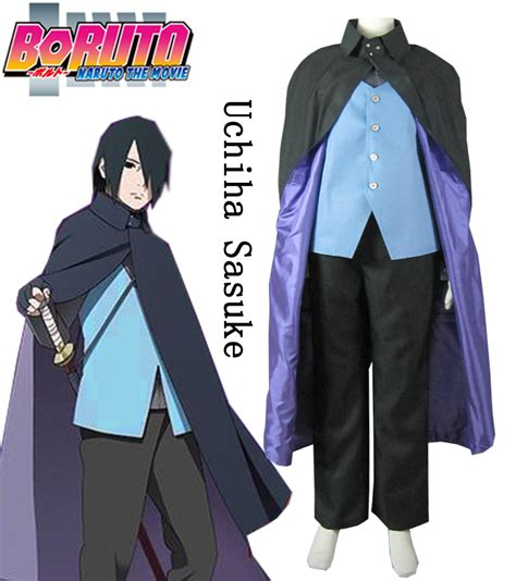 Jaket Anime Uchiha Sasuke T3009 4 uchiha sasuke costume the free shipping worldwide