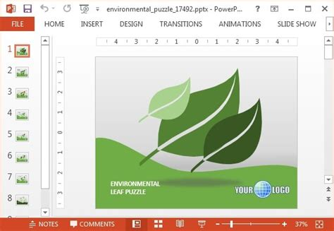 powerpoint template environment animated environment powerpoint templates