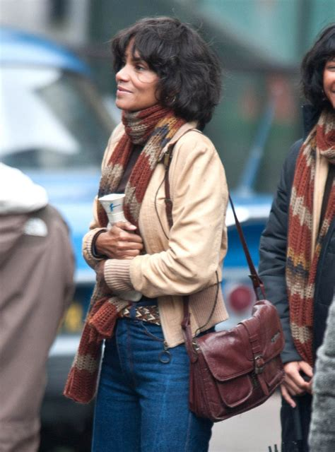 Halle Berry Warms Up by Halle Berry On Set Zimbio