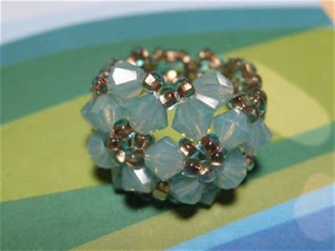 my daily bead how to make a flower ring