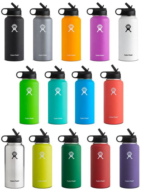 hydroflask colors hydro flask stainless steel bottle wide w straw lid