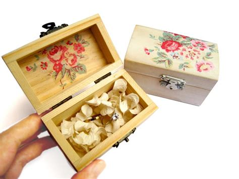 items similar to red rose wooden box ring bearer bridesmaid gift box wedding gift idea cottage