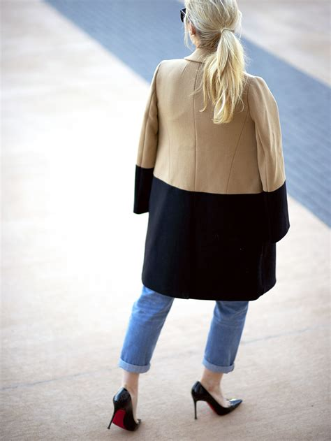 color block coat madewell colorblock coat