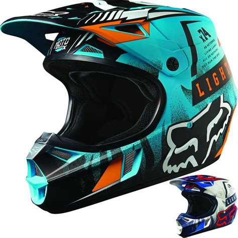 cool motocross helmets fox racing v1 vicious youth dirt bike road motocross