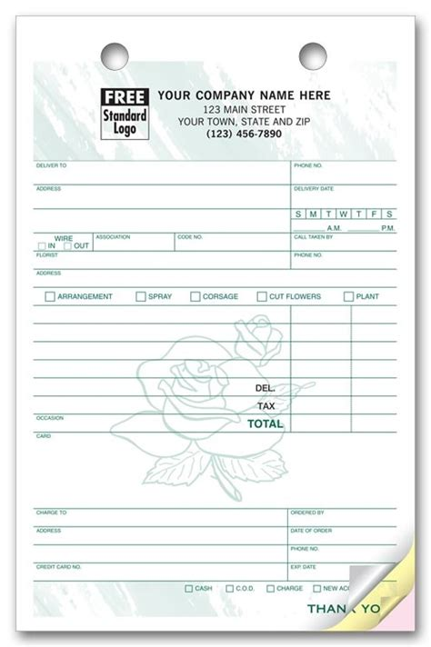 wedding flower invoice sles joy studio design gallery